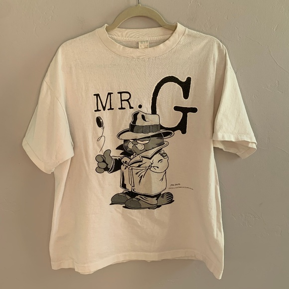 Vintage Shirts 1978 Garfield Tshirt Mr G Gangster L Poshmark